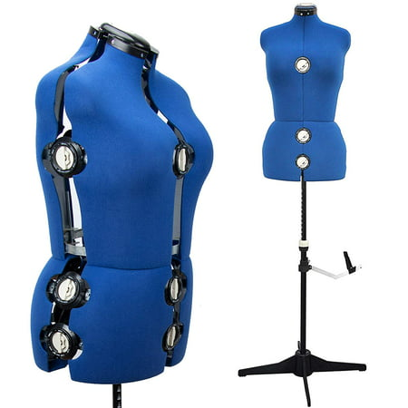 GEX 13 Dials Adjustable Dress Form Sewing Display Female Mannequin Torso Stand Middle