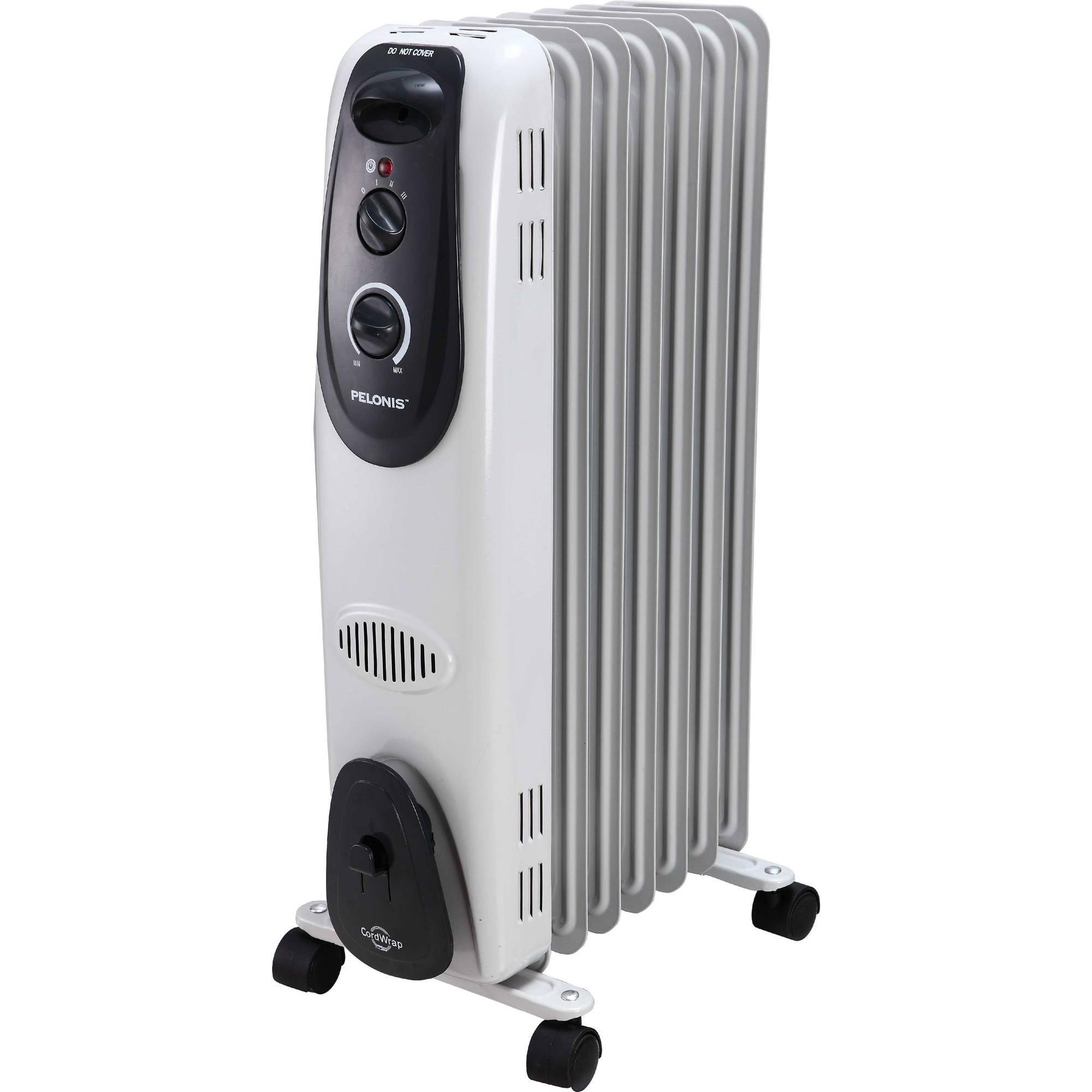 Pelonis Electric Radiator Heater, 7 Fin, Oil-Filled, #HO-0260