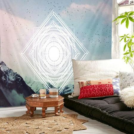 Marsin 55''x50'' Indian Tapestry Wall Hanging Mandala Throw Hippie Bedspread Gypsy Twin