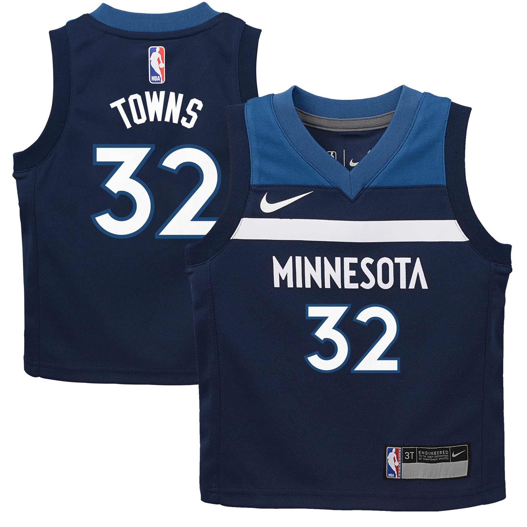 Karl-Anthony Towns Minnesota Timberwolves Nike Toddler Replica Jersey Navy - Icon Edition