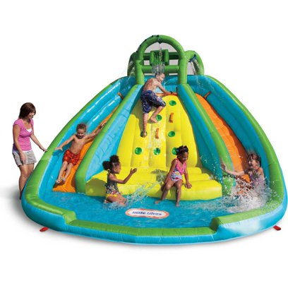 Little Tikes Rocky Mountain River Race with 2 Slides, Spray Hoods