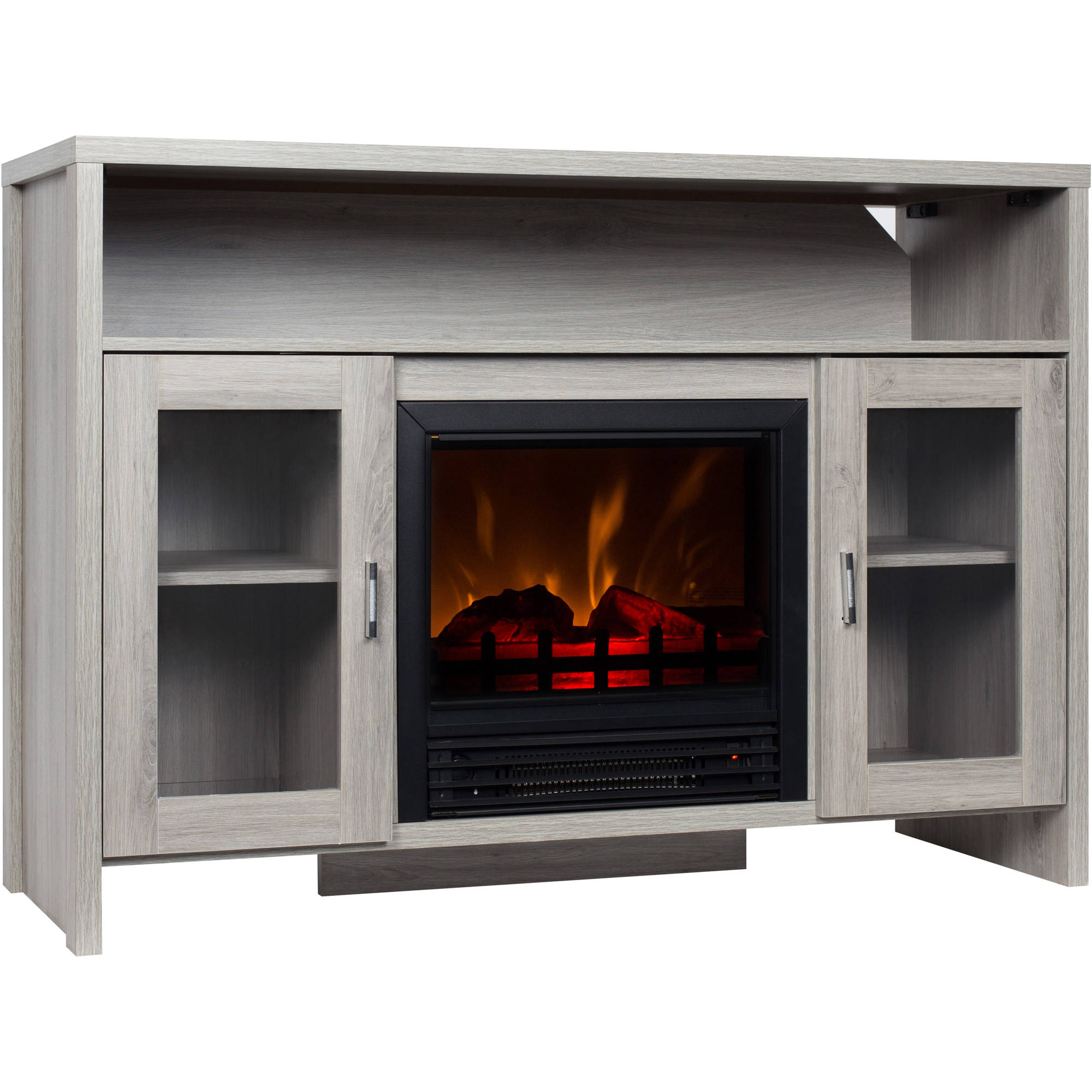 42 inch tv stand with fireplace media console electric entertainment center sale ebay. Black Bedroom Furniture Sets. Home Design Ideas
