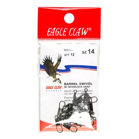 Eagle Claw Barrel Interlock Swivel, Black