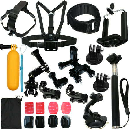 Camera Accessories Kit Bundle Attachments for Gopro Hero 7 6 5 4 3 2 1 3+, Hero Session 5, SJ4000 SJ5000 HD Action Video Cameras DVR by LotFancy, 23-in-1 Sports Accessories
