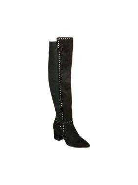 9916a0cc414 Product Image Seven Dials Womens Nicki Fabric Pointed Toe Over Knee Fashion  Boots