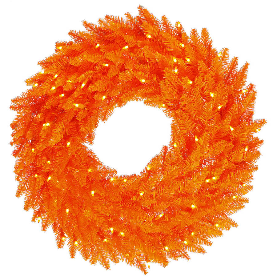 "Vickerman 48"" Orange Wreath 150Org 480T"
