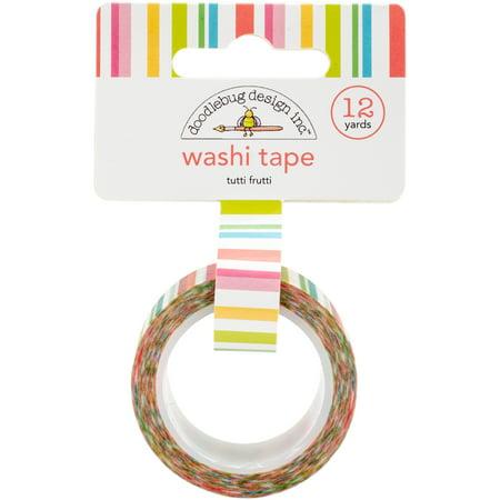 Doodlebug Washi Tape 15mmX12yd-Tutti Frutti (Tutti Frutti Stripes)
