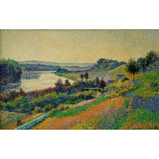 The Siene at Herblay by Maximilien Luce oil on canvas 1890 1858-1941 ...