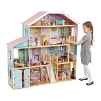 KidKraft Grand View Mansion Dollhouse with EZ Kraft Assembly with 34 accessories included