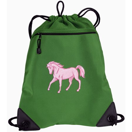 Horse Drawstring Bags Cute Horse Cinch Backpacks - Unique Mesh ...