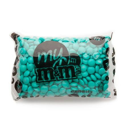 Aqua Ms  Bulk Candy Bag  1Lb