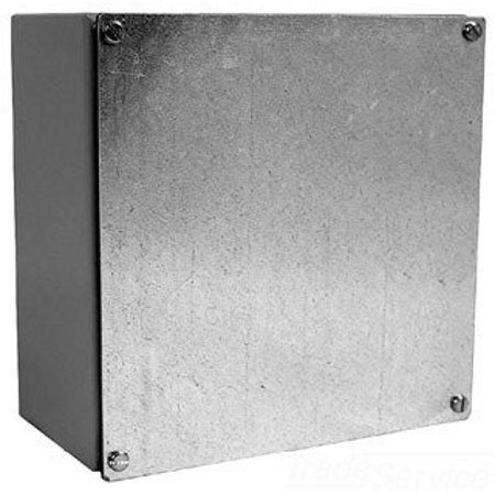 Milbank 12124-WSC2 NEMA 1/3/12 Polyester Powder Coated Galvanized Over Phosphatized Steel Gasketed Screw Cover Junction Box 12 Inch x 12 Inch x 4 Inch ANSI 61 Gray CNSP
