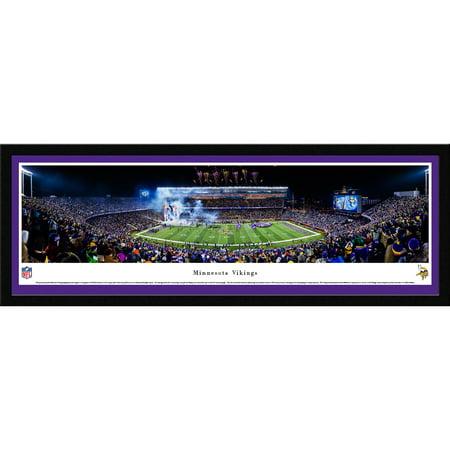 Minnesota Vikings   Final Game At Tcf Bank Stadium   Blakeway Panoramas Nfl Print With Select Frame And Single Mat