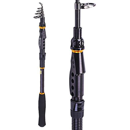 Sougayilang Fishing Rod Graphite Portable Spinning Telescopic Fishing Pole (Action Graphite Rod)