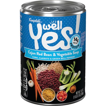 (3 Pack) Campbell's Well Yes! Cajun Red Bean & Vegetable Soup, 16.1 oz.