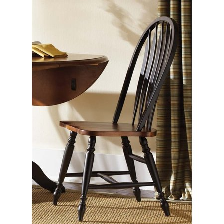 Liberty Furniture Low Country Windsor Back Dining Side Chair in Black Back Windsor Dining Chair