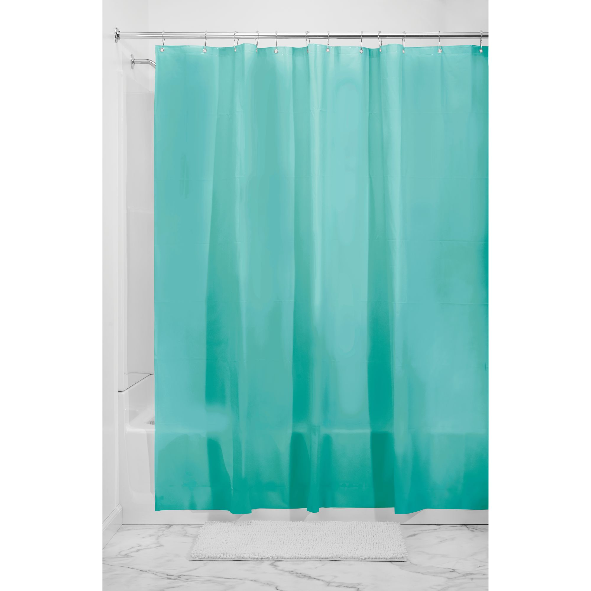 "InterDesign EVA 5.5 Gauge Shower Curtain Liner, Standard, 72"" x 72"", Clear"