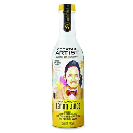 (2 Pack) Cocktail Artist Essential Bar Ingredients Premium Juice, Lemon, 12.6 Fl Oz, 1 Count