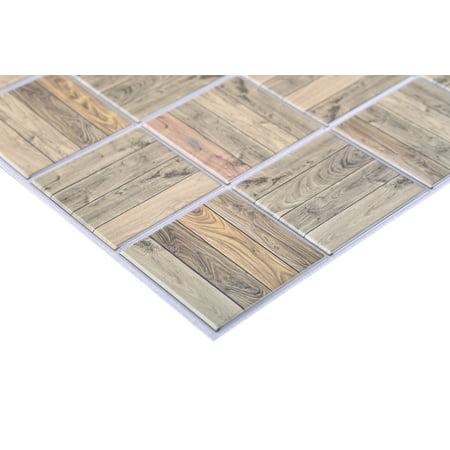 Retro Art PVC 3D Wall Panels - Interior Design Wall Paneling Decor Commercial And Residential Application, Oak Rack - image 2 de 3
