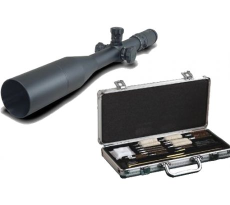 Millett LRS-1 6-25x56 .1 Mil Click Ill Reticle Long Range Riflescope and Hoppes