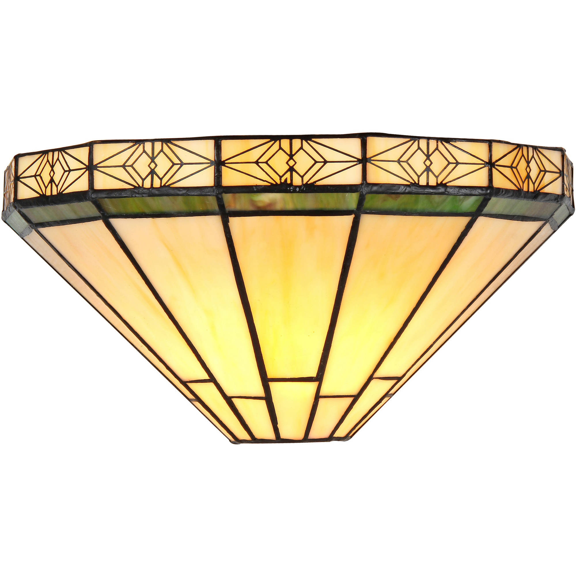 """Click here to buy Chloe Lighting Belle Tiffany-Style 1-Light Mission Wall Sconce, 12"""" Wide by Chloe Lighting."""