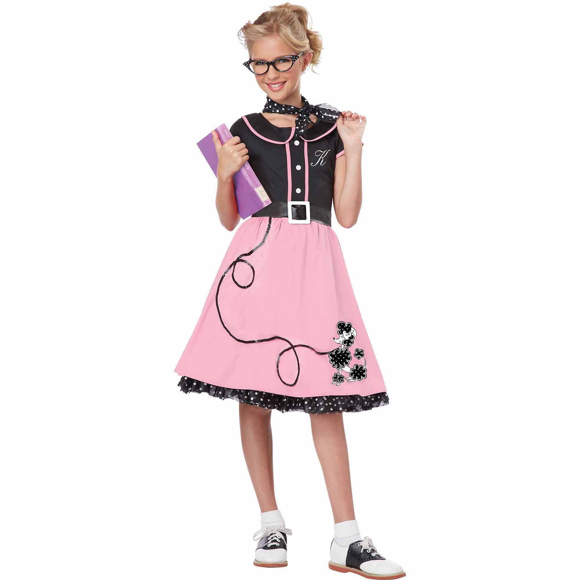 50s Sweetheart Child Halloween Costume - Walmart.com