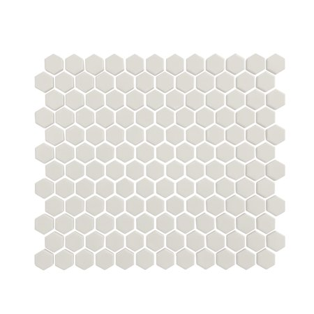 Value Series 1'' x 1'' Hexagon Porcelain Mosaic Tile in Glossy White