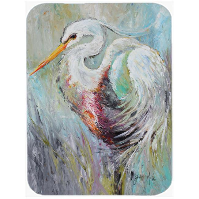 Carolines Treasures JMK1189LCB White Egret Glass Cutting Board, Large - image 1 of 1