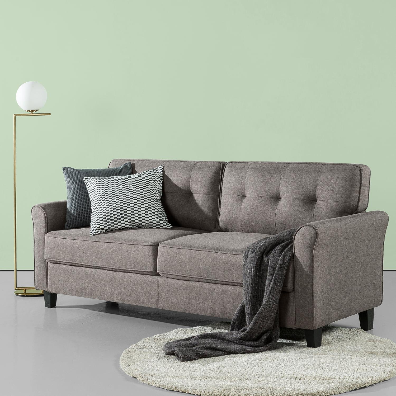 Sand Grey Zinus Sayan Traditional Upholstered 78.7 Inch Sofa ...