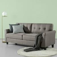 """Zinus Sayan 79"""" Traditional Sofa, Sand Grey"""