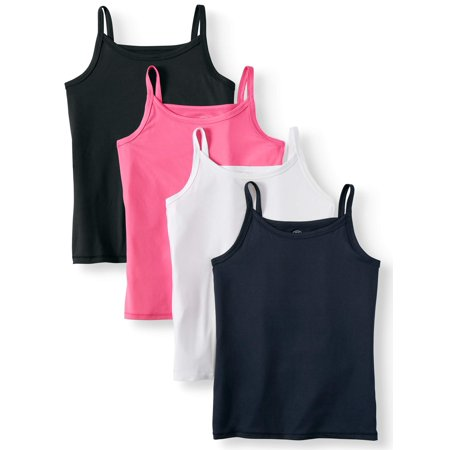 Wonder Nation Girl's Cami Tank Top, 4-Pack (Little Girls, Big Girls & Big Girls