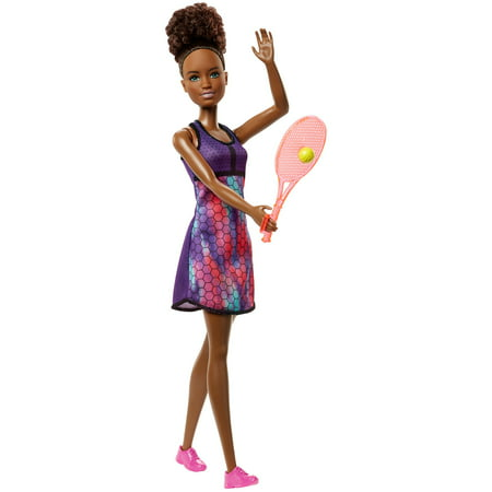 Barbie Tennis Player Doll with Brunette Hair, Tennis Racket & -