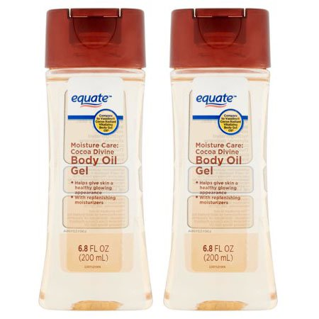 (2 Pack) Equate Moisture Care Cocoa Divine Body Oil Gel, 6.8 Oz