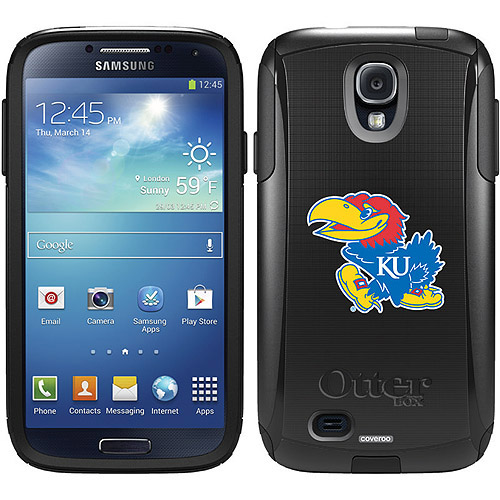 University of Kansas Mascot Design on OtterBox Commuter Series Case for Samsung Galaxy S4
