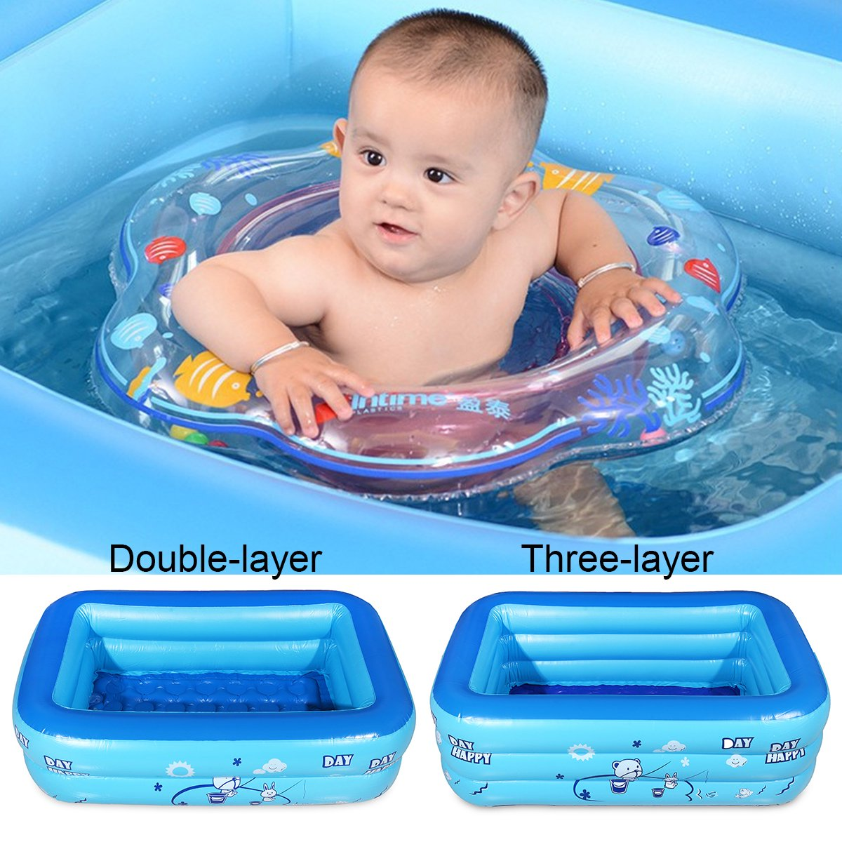 cd164a351736 Baby Inflatable Pool Children Kids Infant Anti-slip Baby Swimming Pool  Paddling Bathtub Water Play Bath Shower Pool Swim Training Tool Large  Capacity