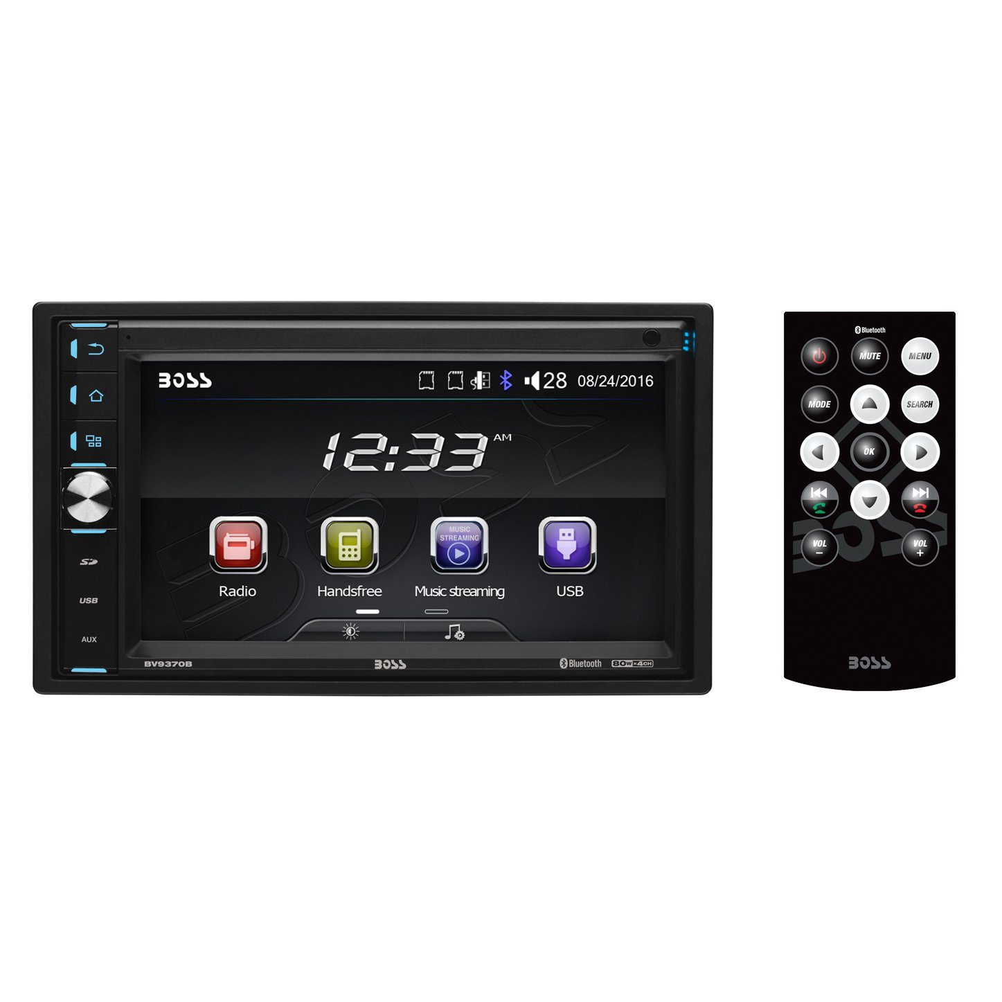 "Boss BV9370B Double-DIN MECH-LESS Multimedia Player 6.5"" Touchscreen"