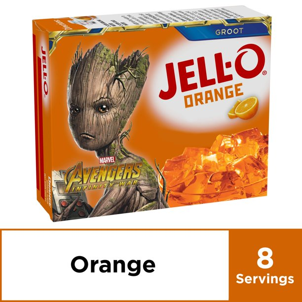 Jell-O Orange Instant Gelatin Mix, 6 oz Box