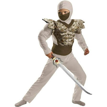 Justin Bieber Costume For Kids (Kids Muscle Desert Camo Ninja)