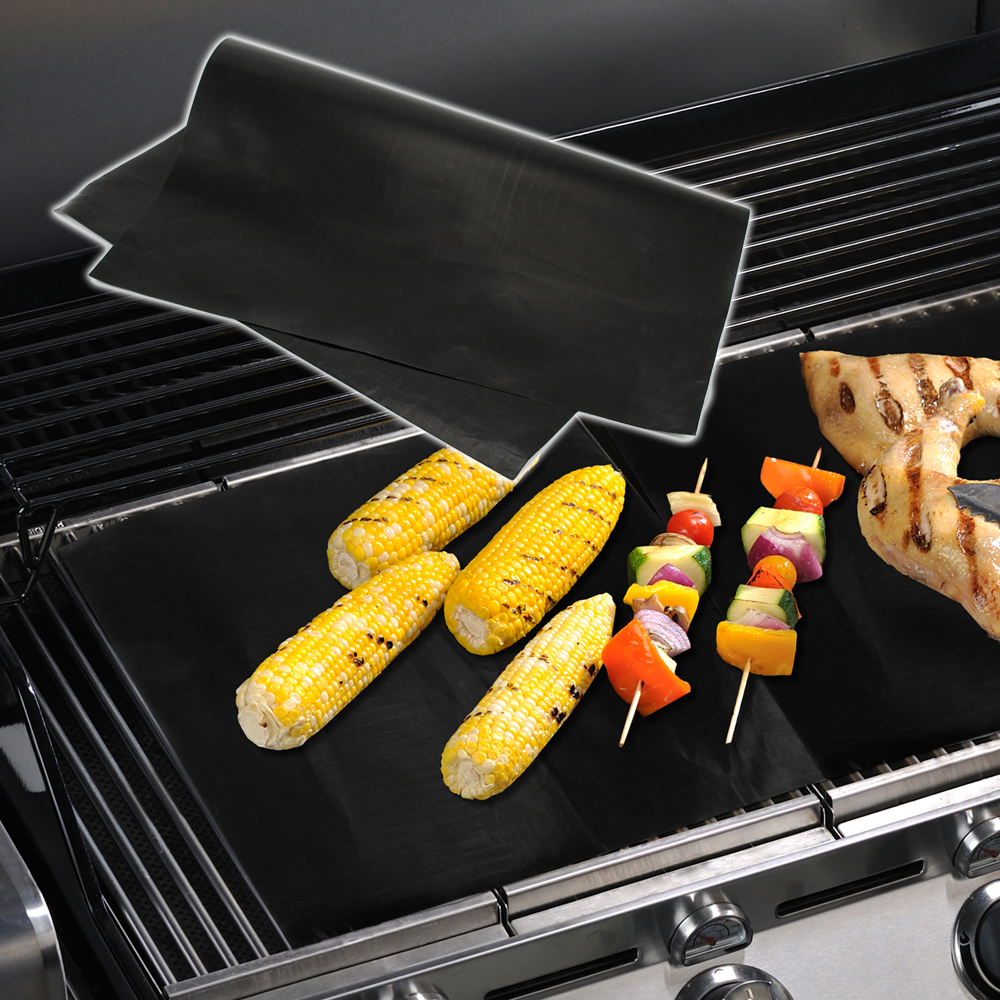 BBQ Grill Mat Easy Grilling Bake Nonstick Mats Cook Summer Non-Stick Barbecue Cooking Sheet