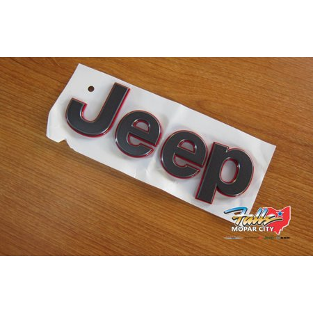 2018-2019 Jeep Wrangler JL Black and Red Nameplate NEW MOPAR OEM
