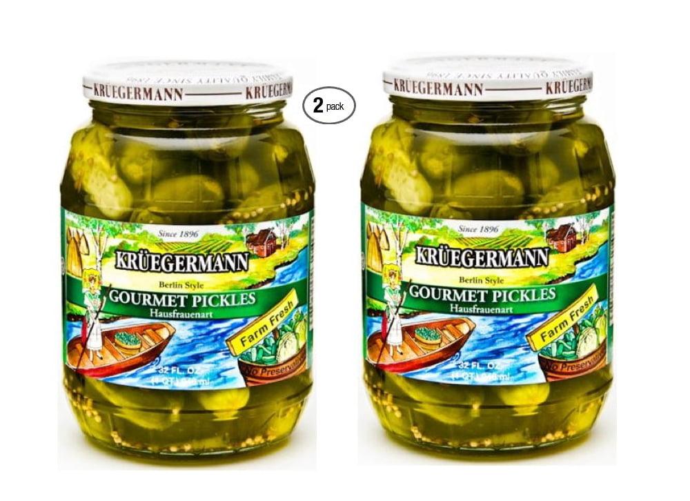 Kruegermann's Best Gourmet Pickles Hausfrauenart Style 2-Pack (64 fl oz total) by Kruegermann