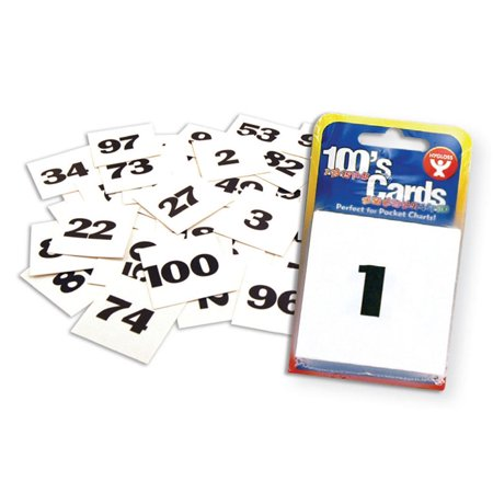 CARDS 2 X 2 NUMBERED 1-100 - Number Cards