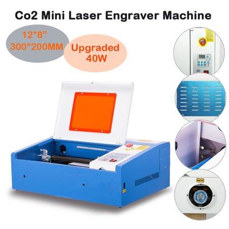 Upgraded 40W Laser Engraver Cutting Machine Crafts Cutter Water-Break