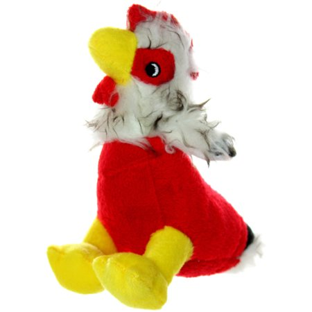VIP Products Mighty Jr. Farm Rooster Dog Toy, Medium, Multicolor