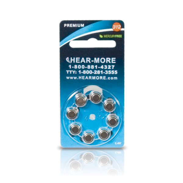 HearMore Hearing Aid Batteries- Size 13 -8-pk