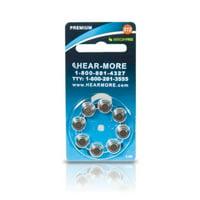 HearMore Hearing Aid Batteries- Size 13 -8-pk
