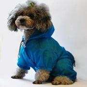 The Ultimate Waterproof Thunder-paw Adjustable Zippered Folding Travel Dog Raincoat Pink LG