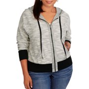 Women's Plus Zip Front French Terry Hoodie
