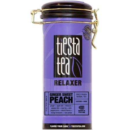 Tiesta Tea Relaxer, Ginger Sweet Peach, Loose Leaf Herbal Tea Blend, Caffeine Free, 6 Ounce (Sweet Peach)