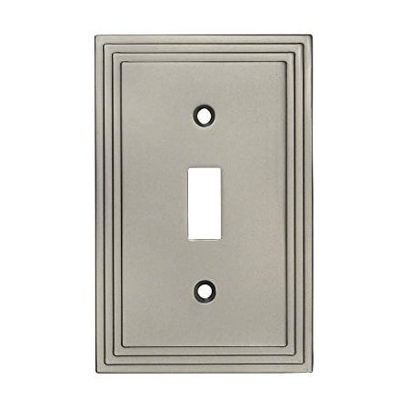 Switch Switchplate Cover (Cosmas 25053-SN Satin Nickel Single Toggle Switch Plate Switchplate Cover)
